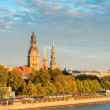 Old town Riga and Daugava — Stock Photo