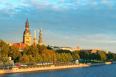 Old town Riga and the Daugava river — Stock Photo