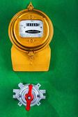 Electric meter with toggle switch — Stock Photo