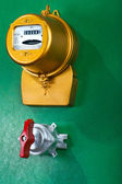 Electric meter with toggle — Stock Photo
