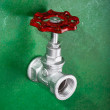 Valve on green — Foto de Stock