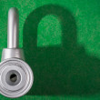Chrome padlock — Stock Photo