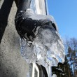 Close-up of frozen drainpipe — Stock Photo