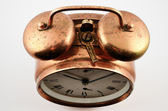 Vintage copper alarm clock — Stock fotografie