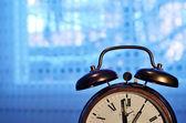 Old-fashioned copper alarm clock — Stock Photo