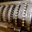 Old bulky vintage cash register — Stock Photo