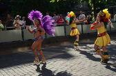 HELSINKI, FINLAND, JUNE 8. Traditional summer samba carnival on June 8, 2013 in Helsinki, Finland. — Stock Photo