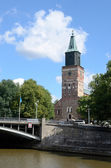 Turku Cathedral is the Mother Church of Evangelical Lutheran in — Stock Photo