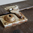 Old vintage suitcase lock — Stock Photo