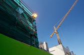 Przemysłowy krajobraz, budowlane, żurawie — Zdjęcie stockowe