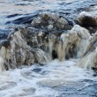 Waterfall, foaming and splashing waves of river — Foto Stock #30513491