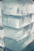 Big translucent ice blocs — Stock Photo