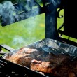 Meat is roasted on the grill — Stock Photo #31120101
