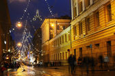 Helsinki, Finland, Aleksanterinkatu, 25.11.2012, Christmas light — Stock Photo