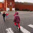 Children running at the Red Square, Moscow — Stock Photo