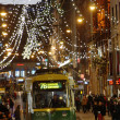 The Christmas seasone begins in Helsinki. The Christmas lights a — Stock Photo