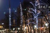 The Christmas seasone begins in Helsinki. The Christmas lights a — Stock Photo
