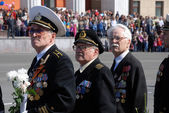 PETROZAVODSK, RUSSIA, MAY 9: Soviet World War II veterans on Vi — Stock Photo