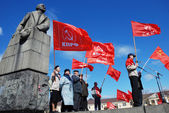 PETROZAVODSK, RUSSIA, MAY 1: members of the Communist Party ral — Stock Photo
