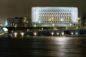 Finnish parliament building at night — Stock Photo