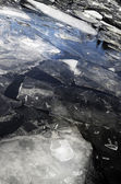 Ice-field on the lake in winter — Stock Photo