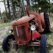 Old rusty tractor in the forest — Stock Photo #46731449