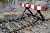 Vecchio raccordo ferroviario — Foto Stock