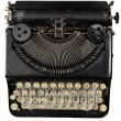 Vintage portable typewriter with Cyrillic letters — Stock Photo #49387439