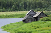 Typical village in the north of Russia — Stock Photo