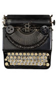 Vintage portable typewriter with Cyrillic letters — Stock Photo