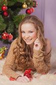 Beautiful near Christmas tree — Stock Photo