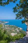 Blue bay near Simeiz town in Crimea — Stock Photo