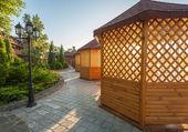 Gazebo in giardino — Foto Stock