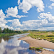 Landscape - blue sky and river — Stock Photo