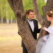 Romantic wedding couple — Stock Photo