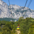 Ropeway in Yalta leading to the Ai-Petri mountain — Stock Photo #28238531