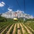 Stock Photo: Ropeway in Yalta leading to the Ai-Petri mountain