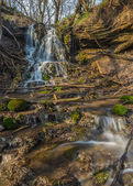 River cascade in big canyon — Stockfoto