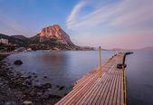 """Sunset in the bay of """"Novyi Svet"""" — Stock Photo"""