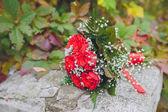 Wedding bouquet in hands of the brid — Stockfoto