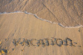 Word Vocation write on white sand — Stock fotografie