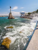 Monument to the Scuttled Warships in Sevastopol. — Foto Stock