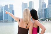 Deux belles femmes à singapour — Photo