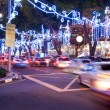 Orchard Road, Singapore. The street and buildings with lights - Stock Photo