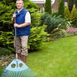 Man raking garden — Stock Photo #1988027