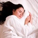 Beautiful young woman sleeping — Stock Photo #1989751