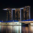 Singapore, night view. — Stock Photo