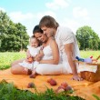 Happy Family picnicking in the park — Stock Photo #36459401