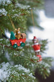 Vintage Christmas decorations — Стоковое фото