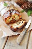 Christmas russin tårta — Stockfoto